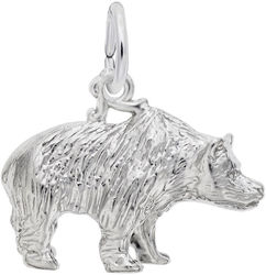 Grizzly Bear Charm (Choose Metal) by Rembrandt