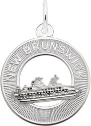 New Brunswick Cruise Ship Ring Charm (Choose Metal) by Rembrandt