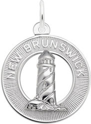 New Brunswick Lighthouse Ring Charm (Choose Metal) by Rembrandt