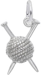 Knitting Charm (Choose Metal) by Rembrandt