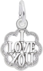 I Love You w/ Border Charm (Choose Metal) by Rembrandt