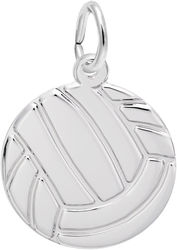 Volleyball Charm (Choose Metal) by Rembrandt