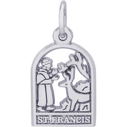St. Francis Charm (Choose Metal) by Rembrandt