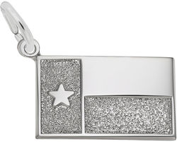 Texas Flag Charm (Choose Metal) by Rembrandt