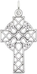 Ornate Celtic Cross Charm (Choose Metal) by Rembrandt