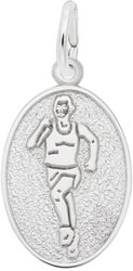 Runner Oval Charm (Choose Metal) by Rembrandt