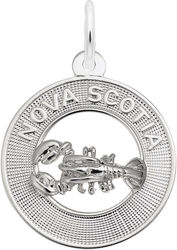 Nova Scotia Lobster Ring Charm (Choose Metal) by Rembrandt