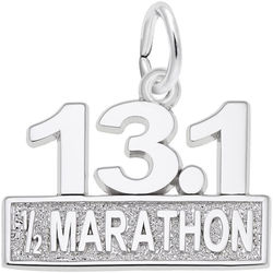 Half Marathon Charm (Choose Metal) by Rembrandt
