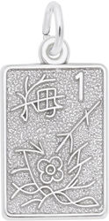 Mahjong Tile Charm (Choose Metal) by Rembrandt