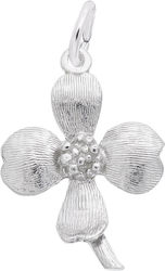 Dogwood Flower Blossom Charm (Choose Metal) by Rembrandt