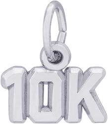 10K Race Charm (Choose Metal) by Rembrandt