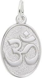 Yoga Symbol Charm (Choose Metal) by Rembrandt