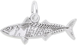 Mackerel Fish Charm (Choose Metal) by Rembrandt