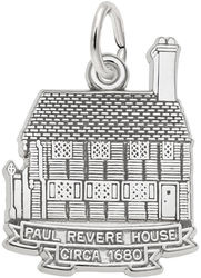 Paul Revere House Charm (Choose Metal) by Rembrandt