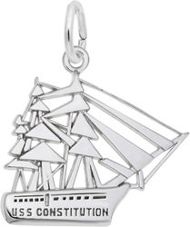 USS Constitution Charm (Choose Metal) by Rembrandt