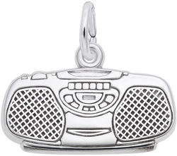 Boom Box Charm (Choose Metal) by Rembrandt
