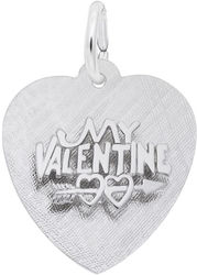 My Valentine Heart Charm (Choose Metal) by Rembrandt