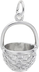 Easter Basket Charm (Choose Metal) by Rembrandt