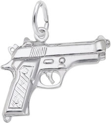 Pistol Charm (Choose Metal) by Rembrandt