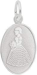 Bridesmaid Oval Charm (Choose Metal) by Rembrandt