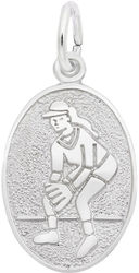 Softball Oval Charm (Choose Metal) by Rembrandt