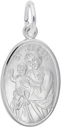 St. Joseph Oval Charm (Choose Metal) by Rembrandt