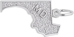 Maryland Map Charm (Choose Metal) by Rembrandt