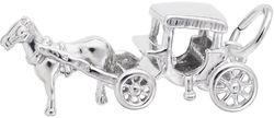 Horse & Carriage Charm (Choose Metal) by Rembrandt