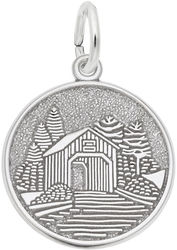 Covered Bridge Charm (Choose Metal) by Rembrandt