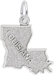 Louisiana Map Charm (Choose Metal) by Rembrandt