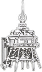 Thomas Point, MD Lighthouse Charm (Choose Metal) by Rembrandt
