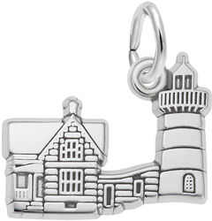 Nubble Cape Neddick, ME Lighthouse Charm (Choose Metal) by Rembrandt