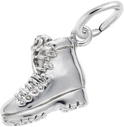 Hiking Boot Charm (Choose Metal) by Rembrandt