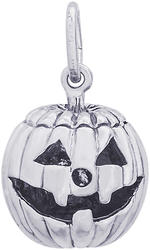 Jack O Lantern Charm w/ Black Enamel (Choose Metal) by Rembrandt