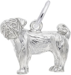 Pug Charm (Choose Metal) by Rembrandt