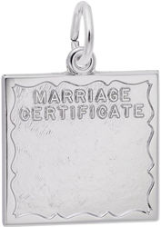 Marriage Certificate Charm (Choose Metal) by Rembrandt