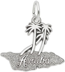 Aruba Palms Charm (Choose Metal) by Rembrandt