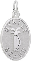 Myrtle Beach Golf Clubs Oval Charm (Choose Metal) by Rembrandt