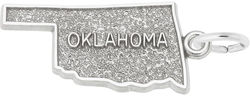 Oklahoma Map Charm (Choose Metal) by Rembrandt