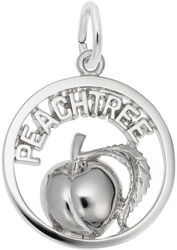 Peachtree Peach Open Charm (Choose Metal) by Rembrandt