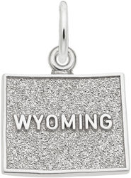 Wyoming Map Charm (Choose Metal) by Rembrandt