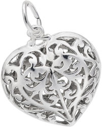 Filigree Heart Charm (Choose Metal) by Rembrandt