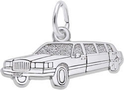 Flat Limousine Charm (Choose Metal) by Rembrandt