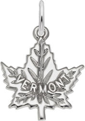 Vermont Maple Leaf Charm (Choose Metal) by Rembrandt