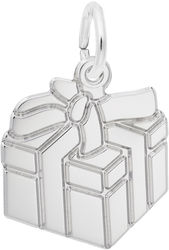 Gift Box Charm (Choose Metal) by Rembrandt