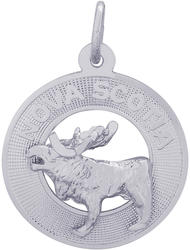 Nova Scotia Moose Ring Charm (Choose Metal) by Rembrandt
