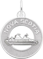 Nova Scotia Cruise Ship Ring Charm (Choose Metal) by Rembrandt