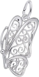Filigree Butterfly Charm (Choose Metal) by Rembrandt