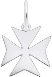 Maltese Cross Charm (Choose Metal) by Rembrandt