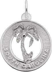 South Carolina Palm Tree Ring Charm (Choose Metal) by Rembrandt